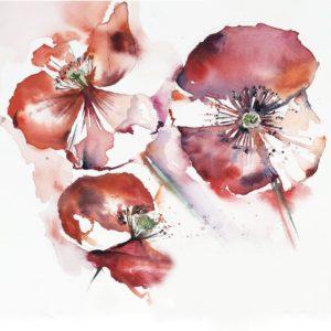 fleurs aquarelle exercice