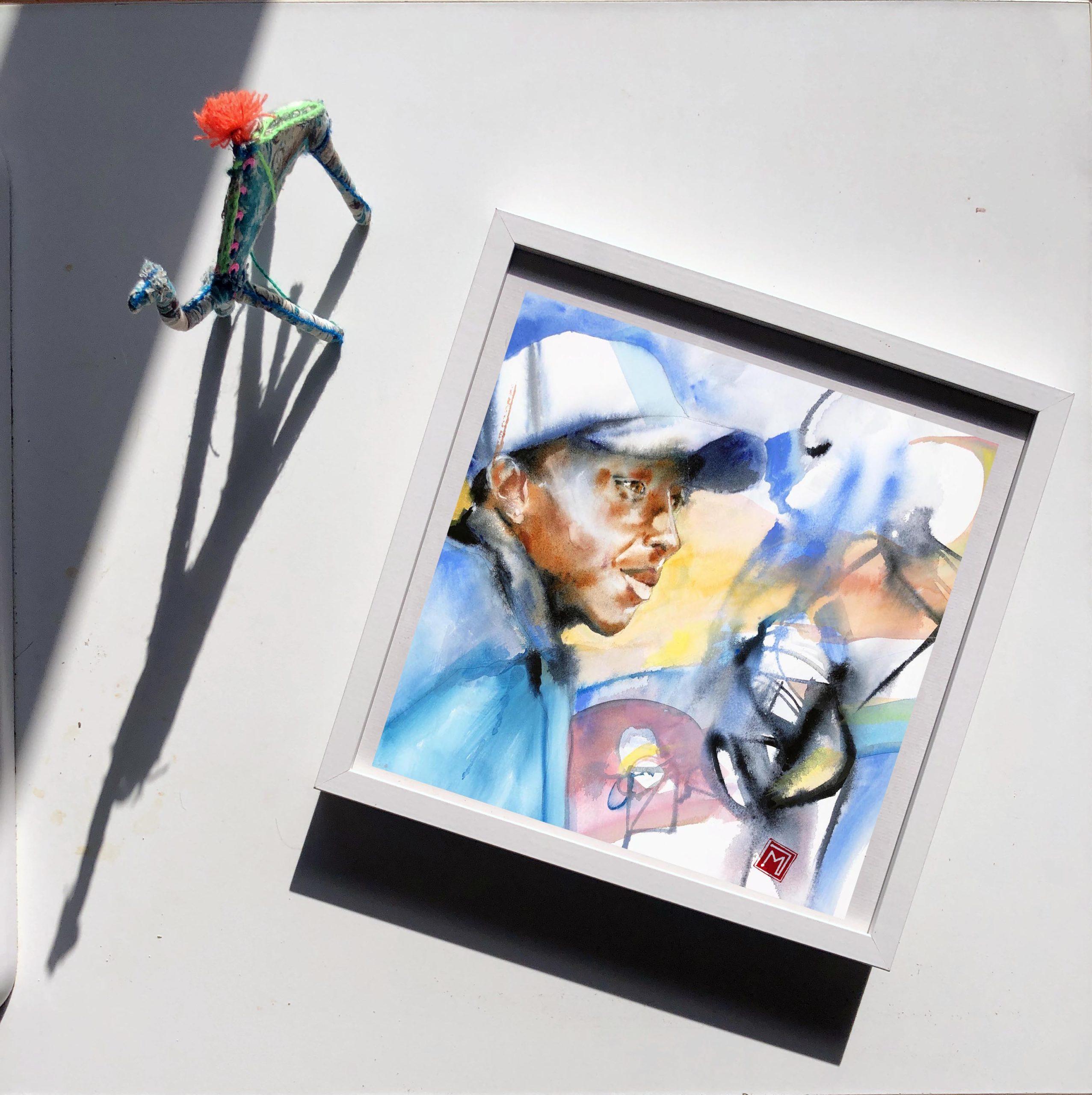 portrait aquarelle en tutoriel sur mon site